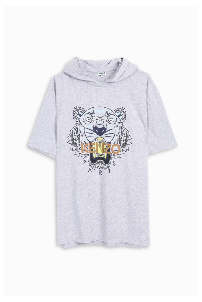 Kenzo Men`s Hooded Tiger T-shirt Boutique1