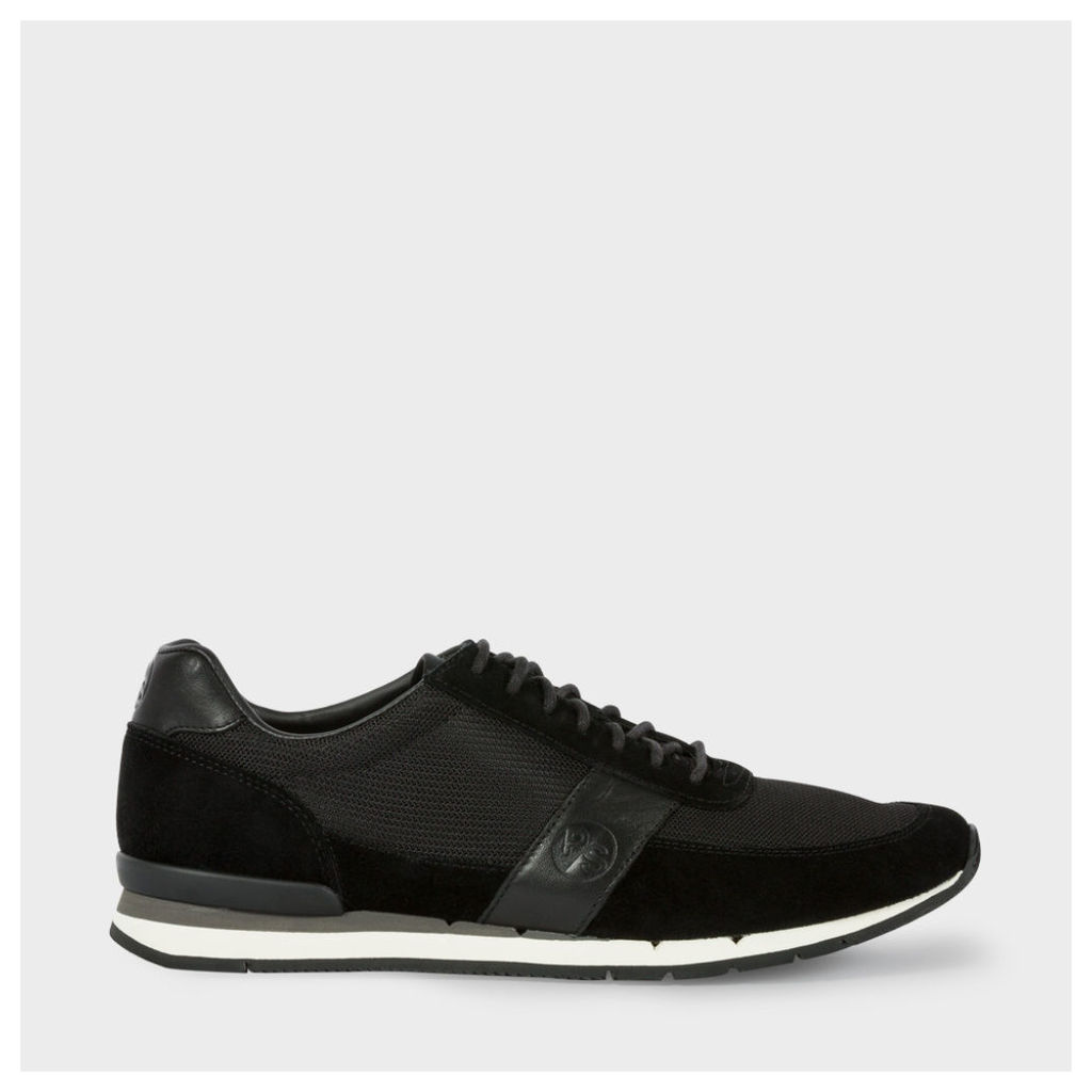 Men's Black Suede And Mesh 'Swanson' Trainers