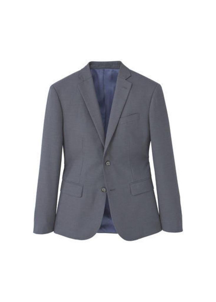Slim-fit patterned suit blazer