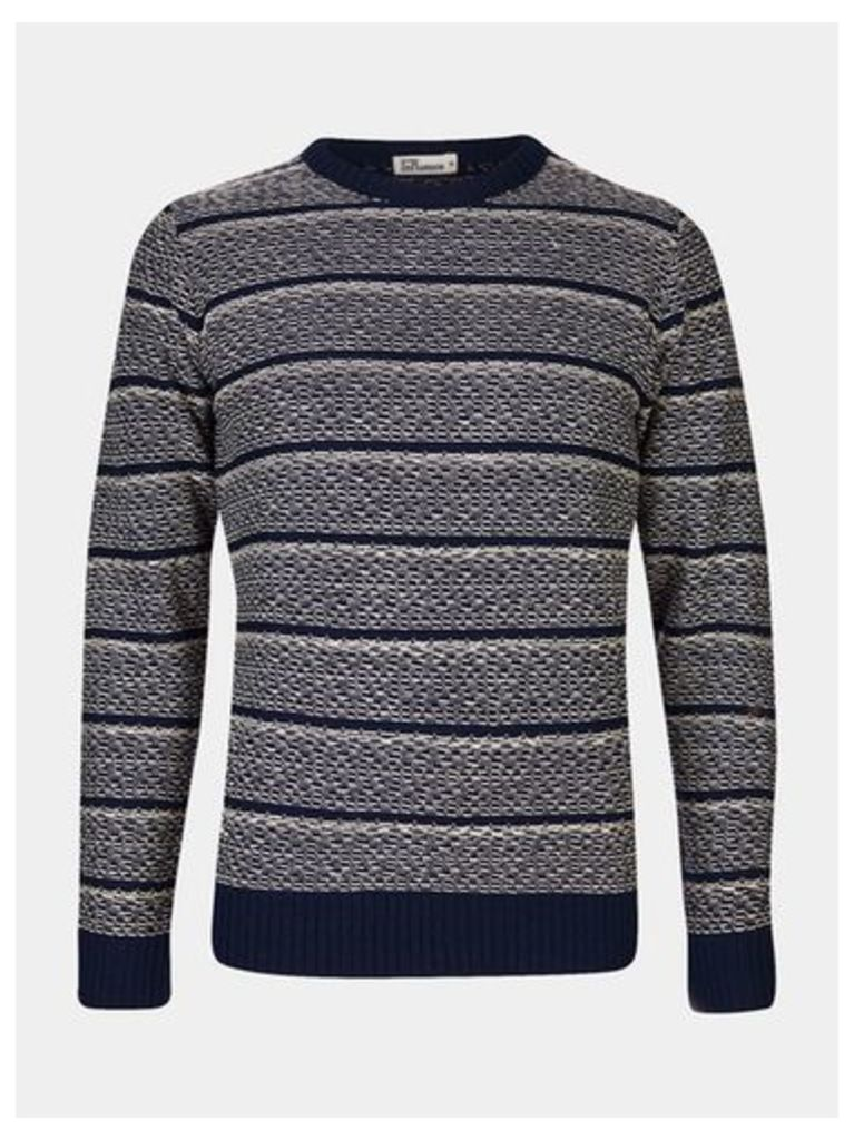 Mens Another Influence Navy Knit Jumper*, Blue