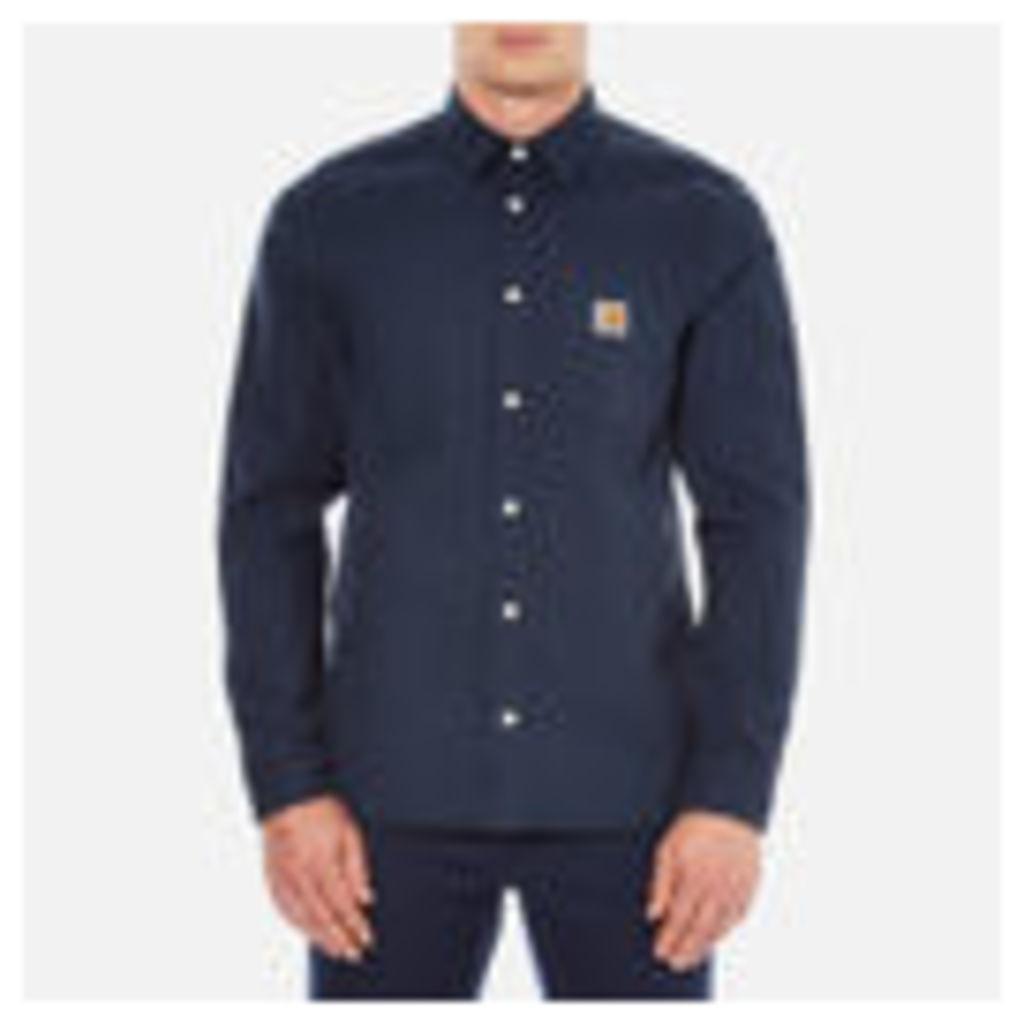 Carhartt Men's Long Sleeve Tony Shirt - Navy Rigid - S