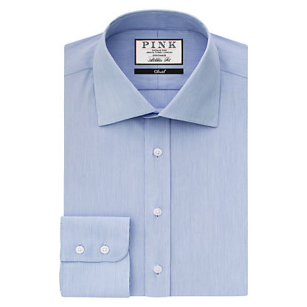 Thomas Pink Victor Athletic Fit Shirt, Blue/White