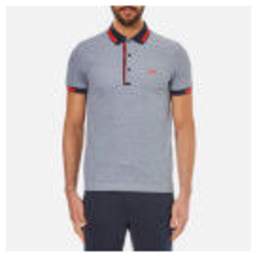 BOSS Green Men's Paule 4 Collar Detail Polo Shirt - Blue - M