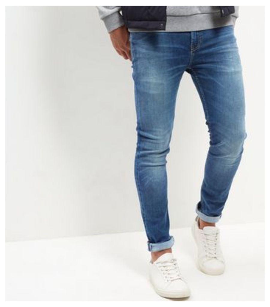 Blue Washed HyperFlex Skinny Jeans