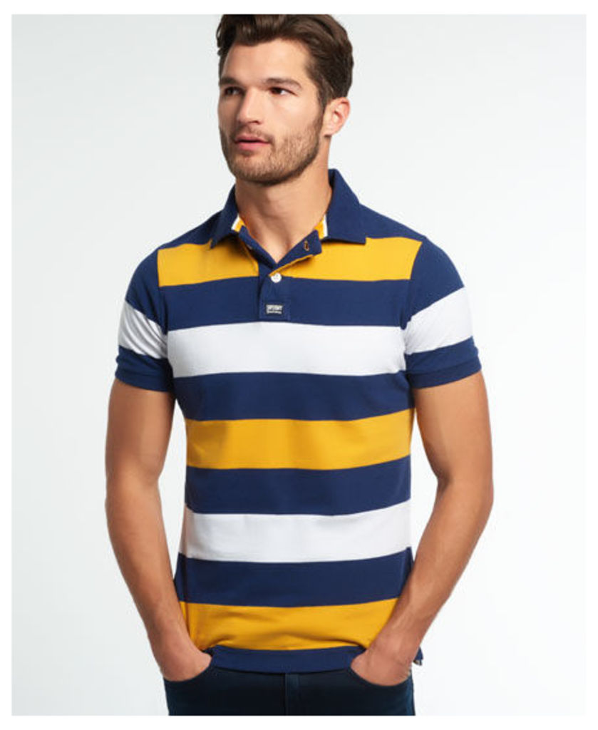 Superdry College Hoop Stripe Polo Shirt