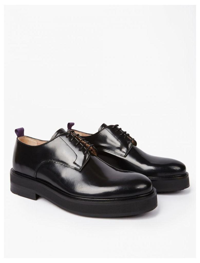 Black Leather Kingston Shoes