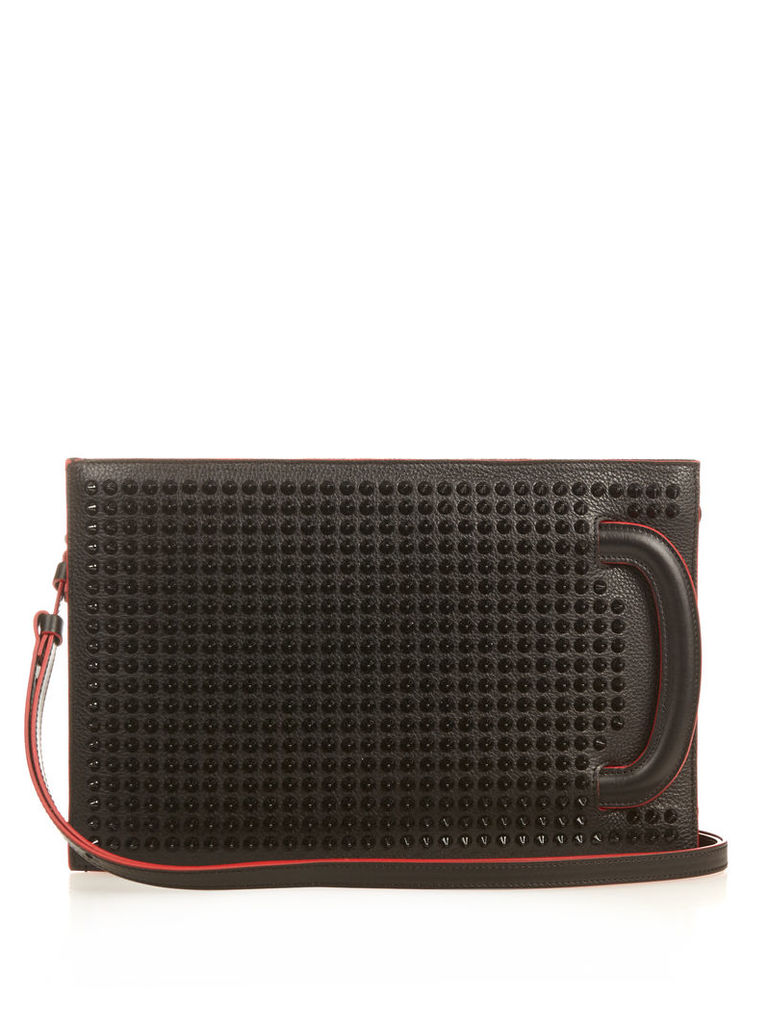 Trictrac small spike-embellished leather tote