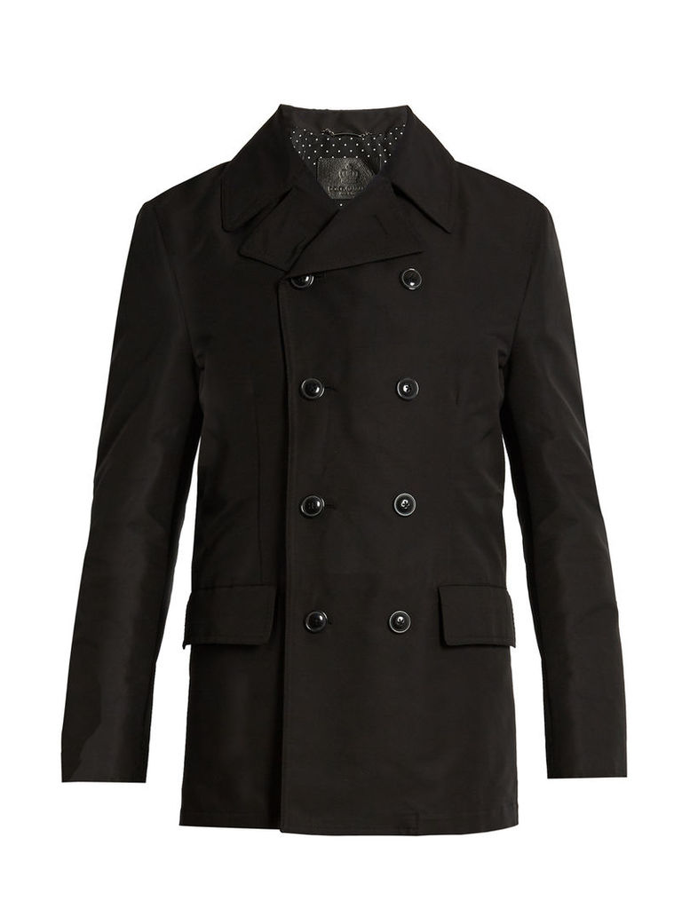 Double-breasted cotton-gabardine pea coat
