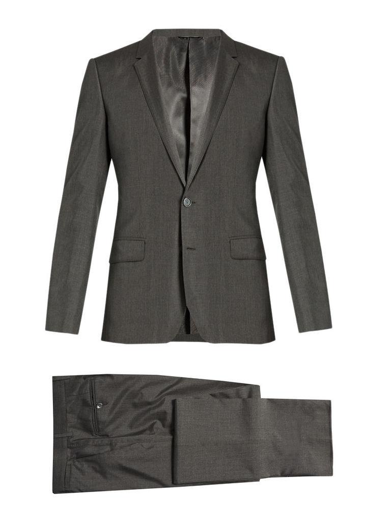 Notch-lapel silk tuxedo