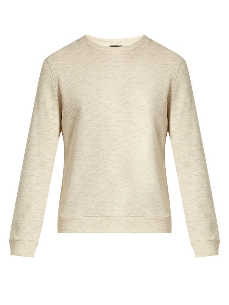 Crew-neck cotton sweatshirt