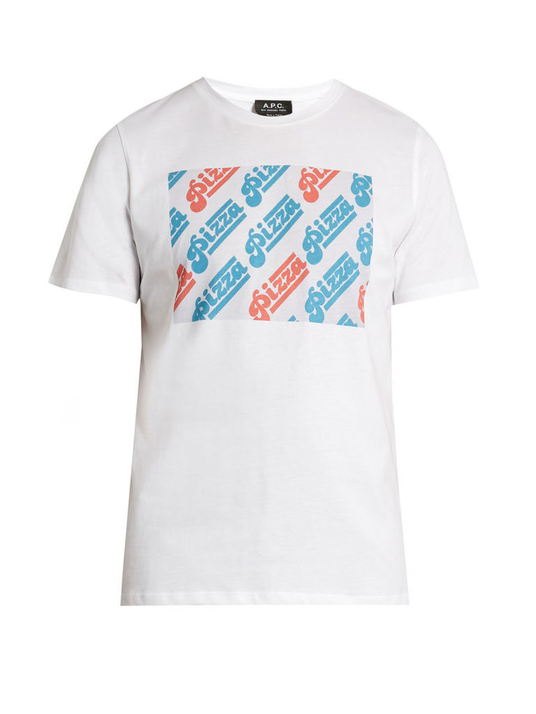 Pizza-print cotton-jersey T-Shirt