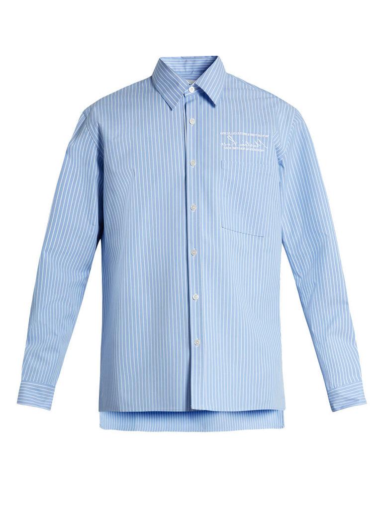 Striped bonded-cotton shirt