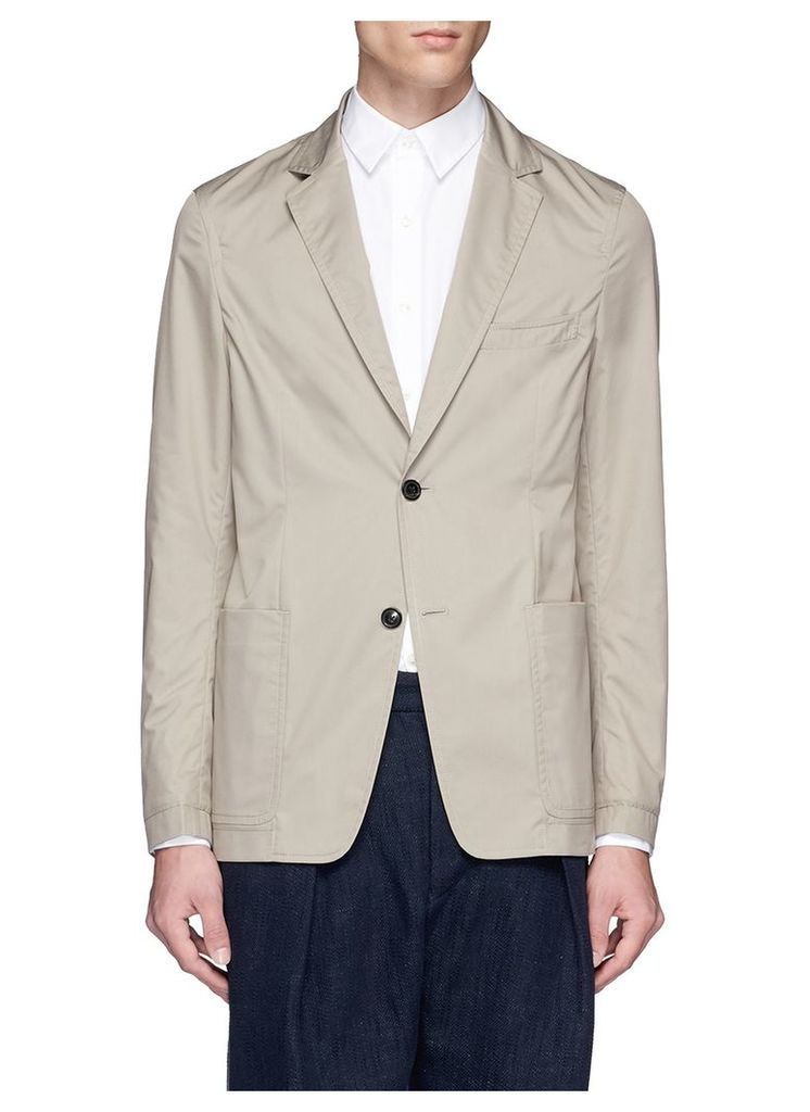 Cotton blend soft blazer