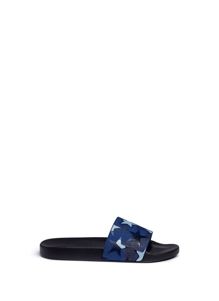 'Camustars' print rubber slide sandals