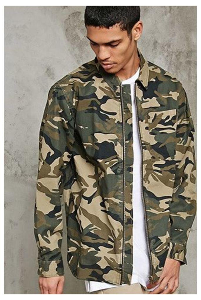 Zippered Camo Jacket