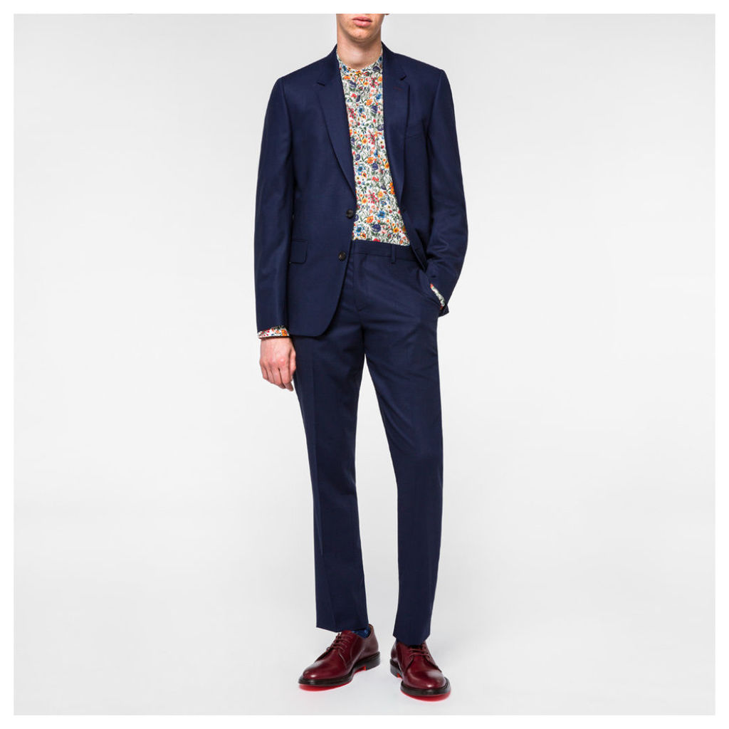 A Suit To Travel In - Navy Summer-Wool Suit