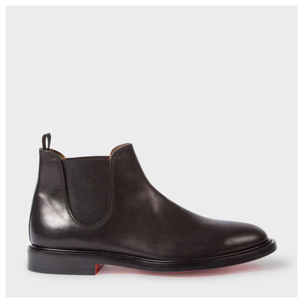 Men's Black Calf Leather 'Drummond' Chelsea Boots