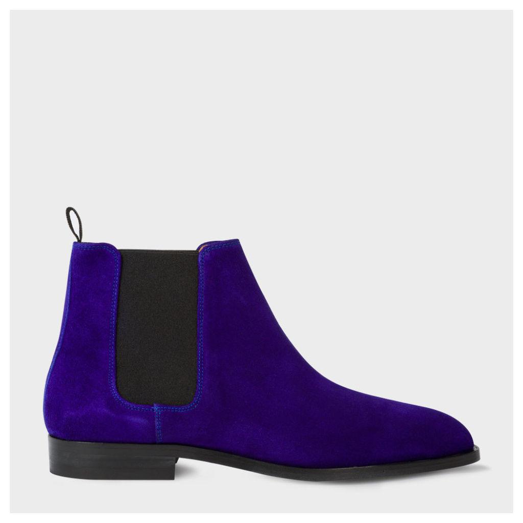 Men's Indigo Suede 'Gerald' Chelsea Boots