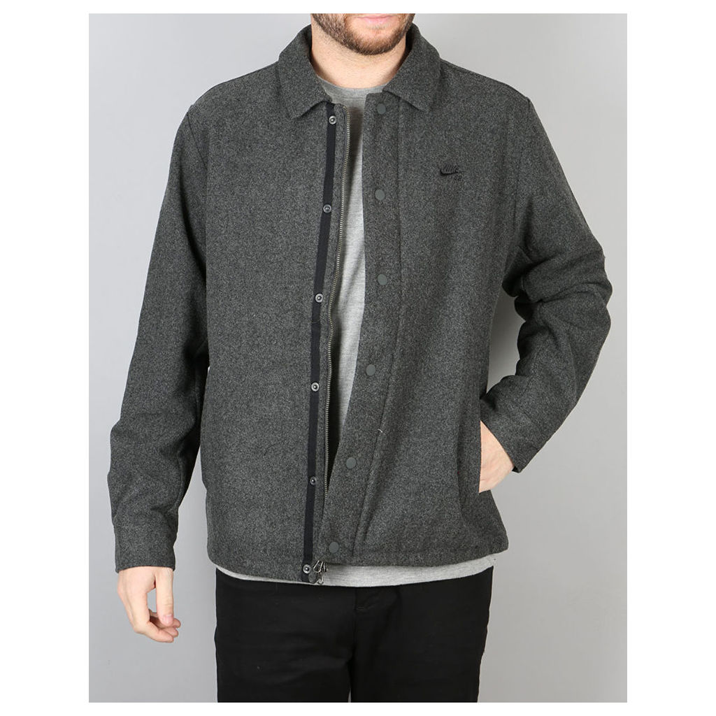 Nike SB Wool Coaches Jacket - Charcoal Heather/Black (L)