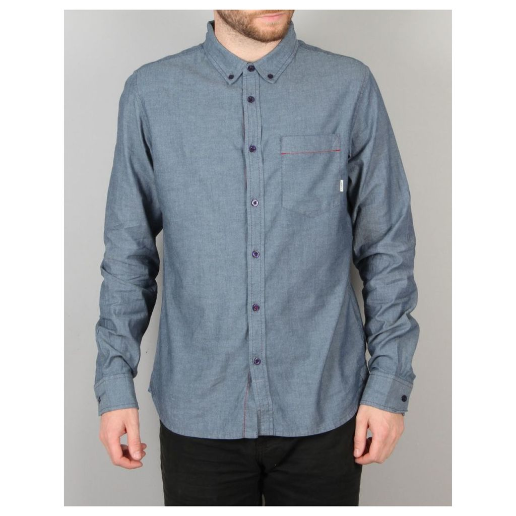 Element Coopper Long Sleeve Shirt - Indigo Blue (L)