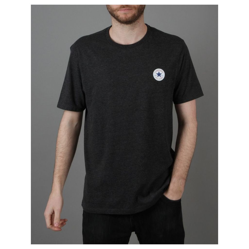 Converse Core Left Chest CP Crew T-Shirt - Converse Black Heather (XL)