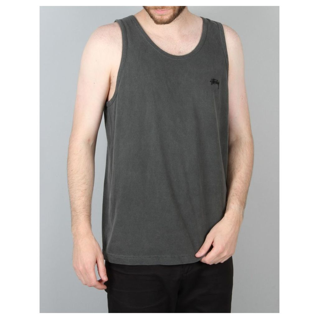 Stüssy Small Stock Embroidery Tank - Black (L)