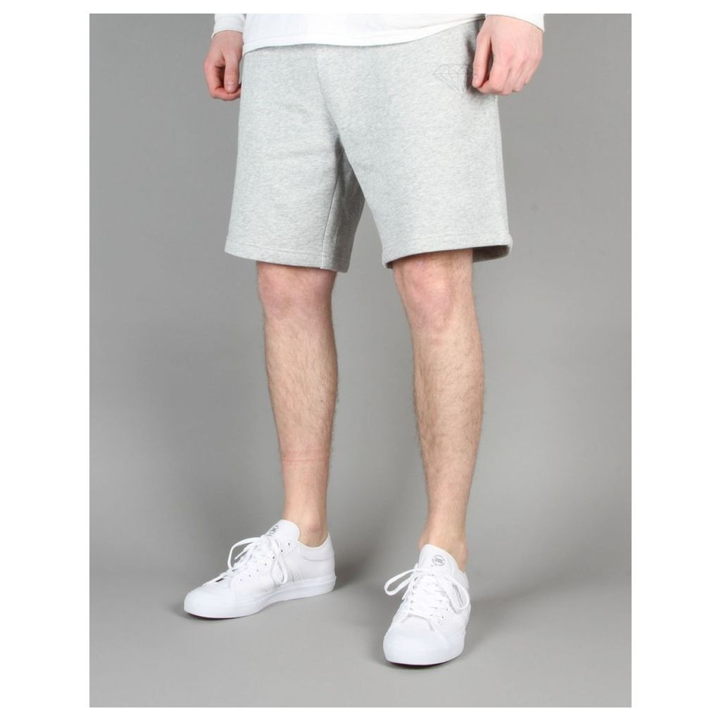 Diamond Supply Co. Tonal Brilliant Sweatshorts - Heather Grey (L)
