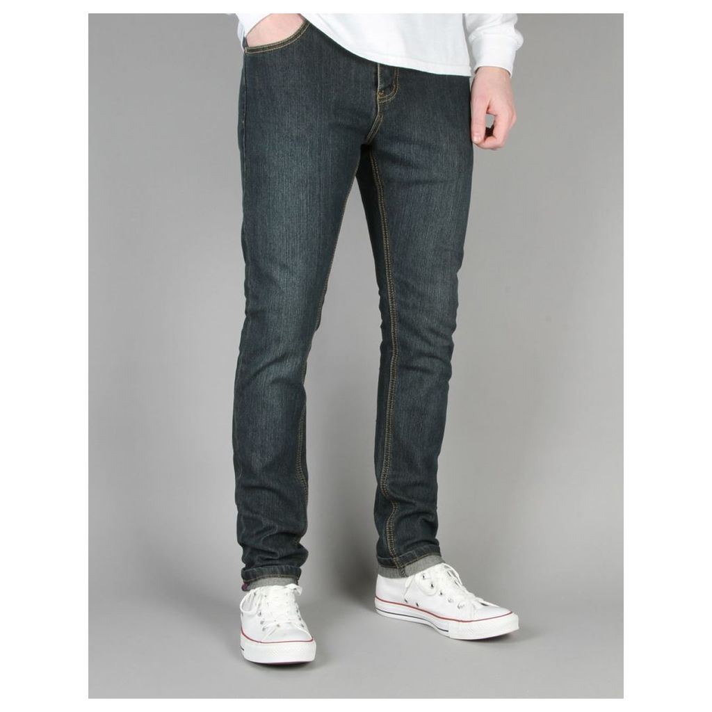 Route One Skinny Denim Jeans - Washed Indigo (28)