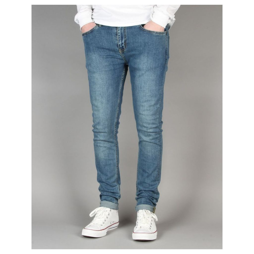 Route One Super Skinny Denim Jeans - Washed Blue (28)