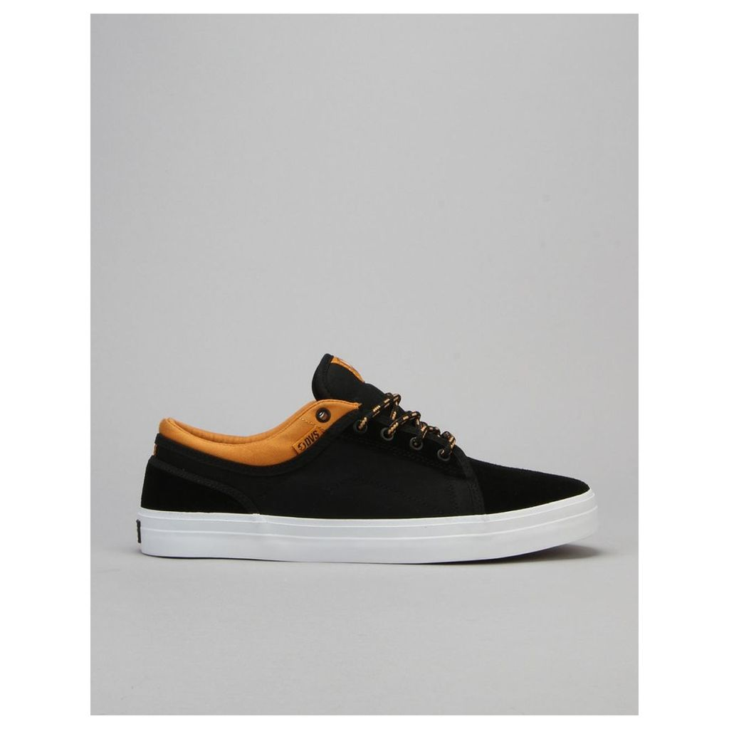 DVS Aversa Skate Shoes - Black/Tan Suede - Canvas x Wallin (UK 7)