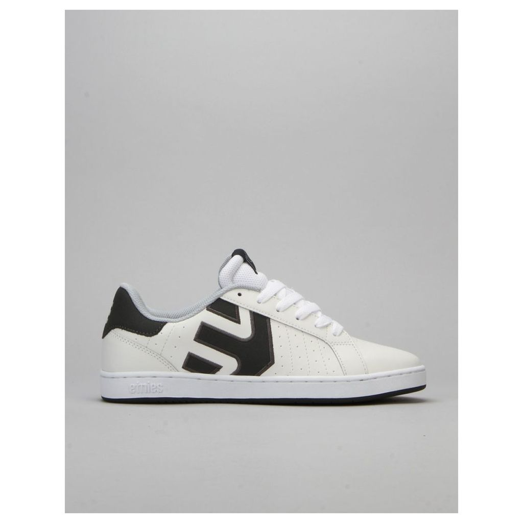 Etnies Fader LS Skate Shoes - White/Grey/Grey (UK 6)