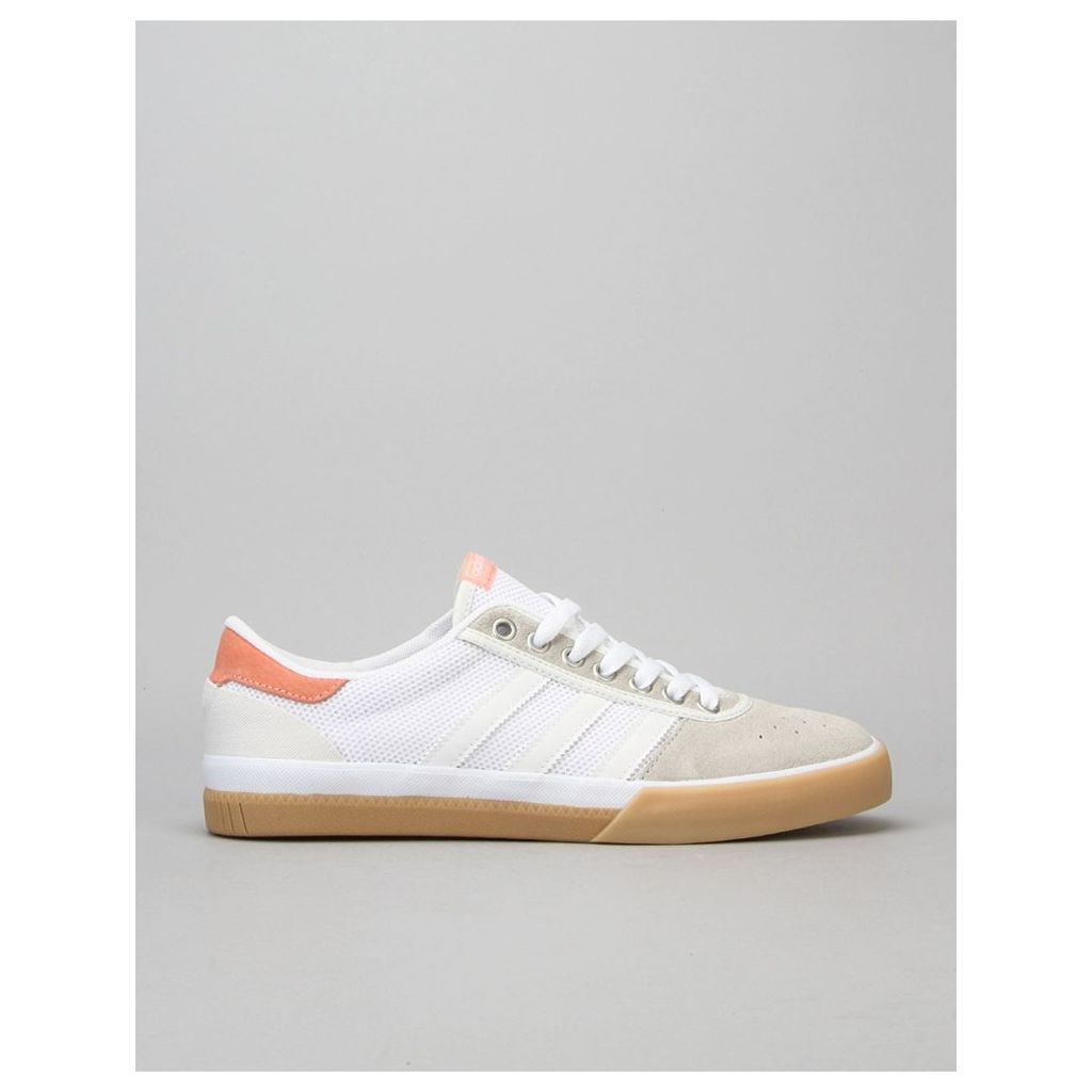 Adidas Lucas Premiere ADV Skate Shoes - Crystal White/White/Sun Glow (UK 7)