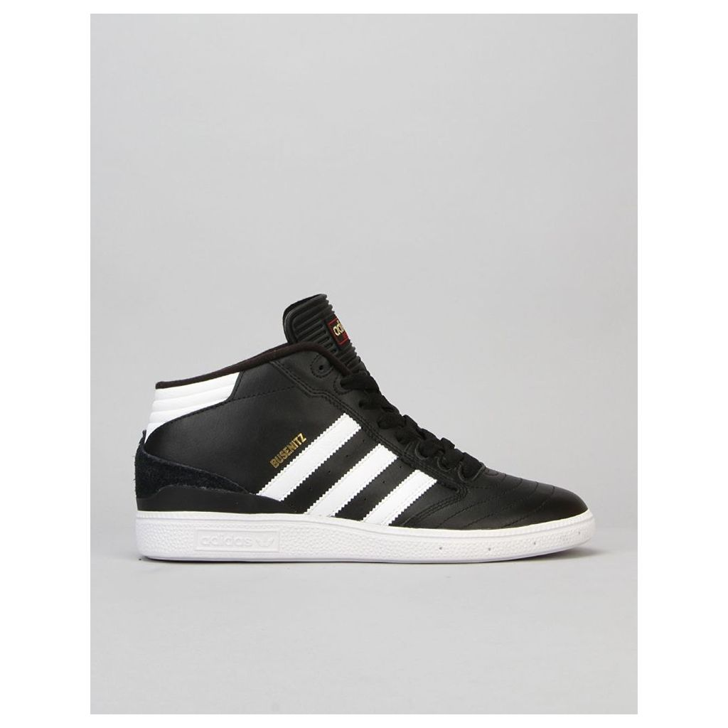Adidas Busenitz Pro Mid Skate Shoes - Black/White/Gold (UK 7)