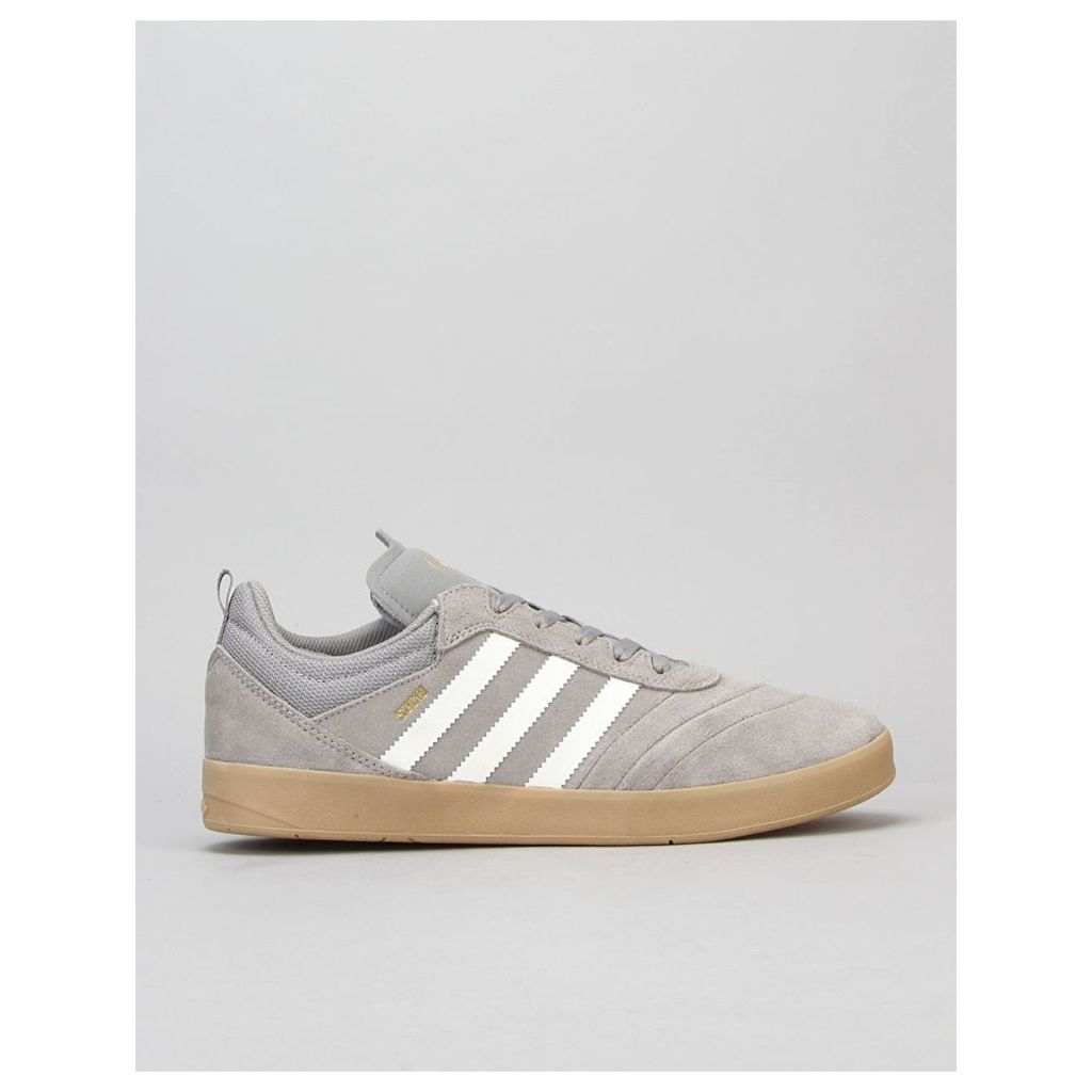 Adidas Suciu ADV Skate Shoes - Solid Grey/White/Gold Metallic (UK 6.5)