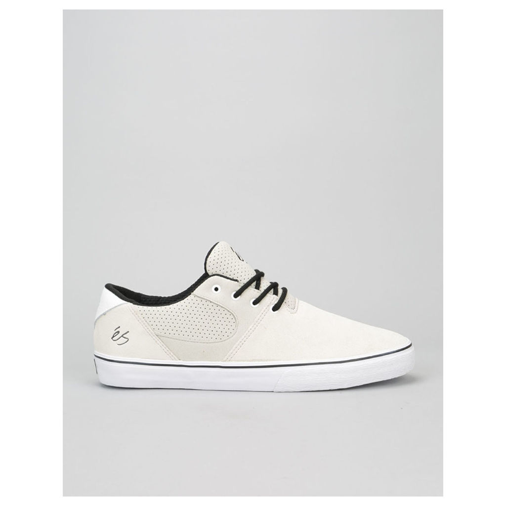 éS Accel SQ Skate Shoes - White/White/Black (UK 7)