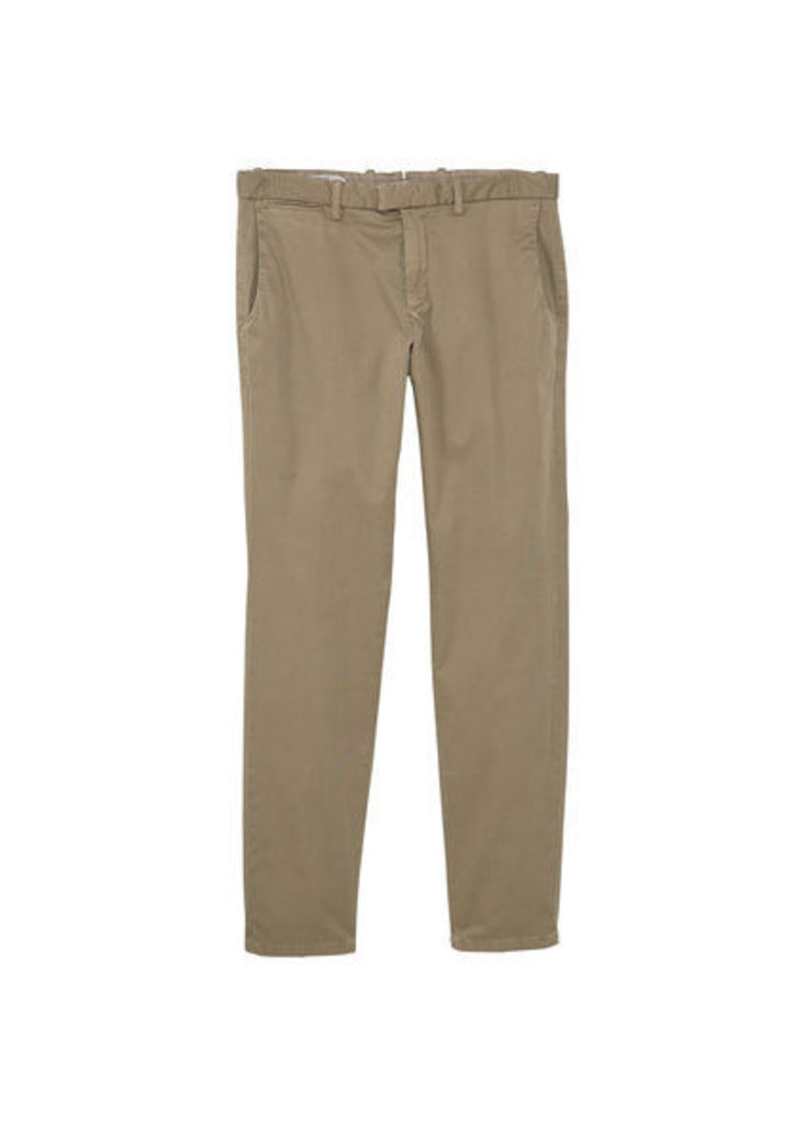 Slim-fit micro print chinos