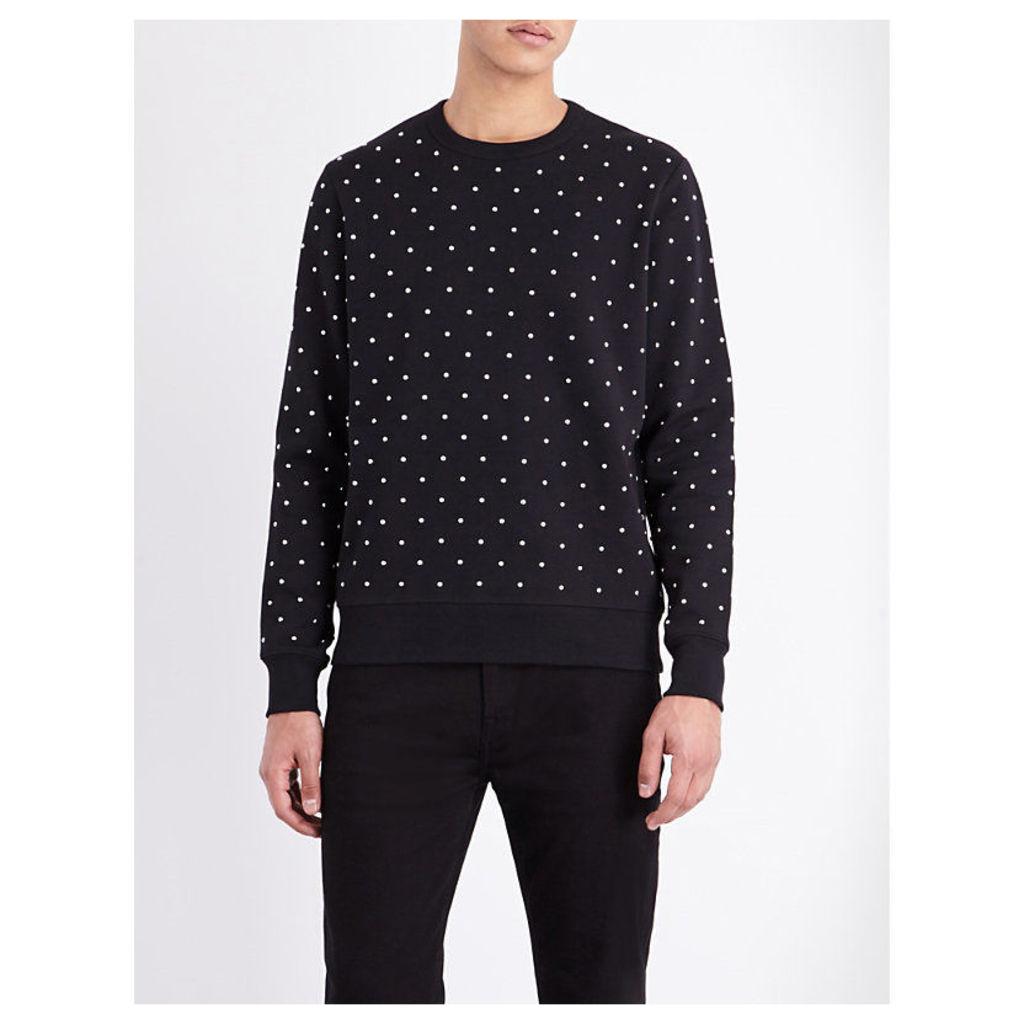 Burberry Riveted Jersey Sweatshirt, Men's, Size: Medium, Black