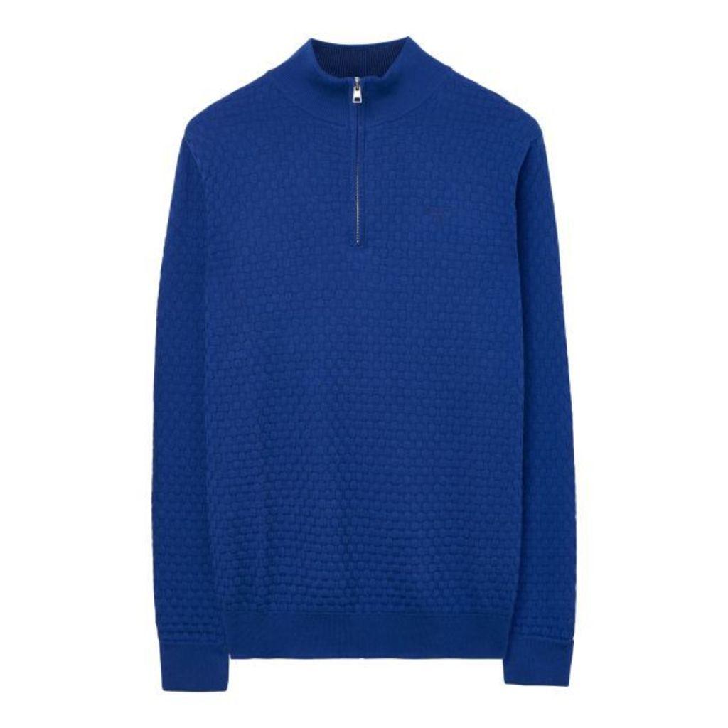 Texture Halfzip - Royal Blue
