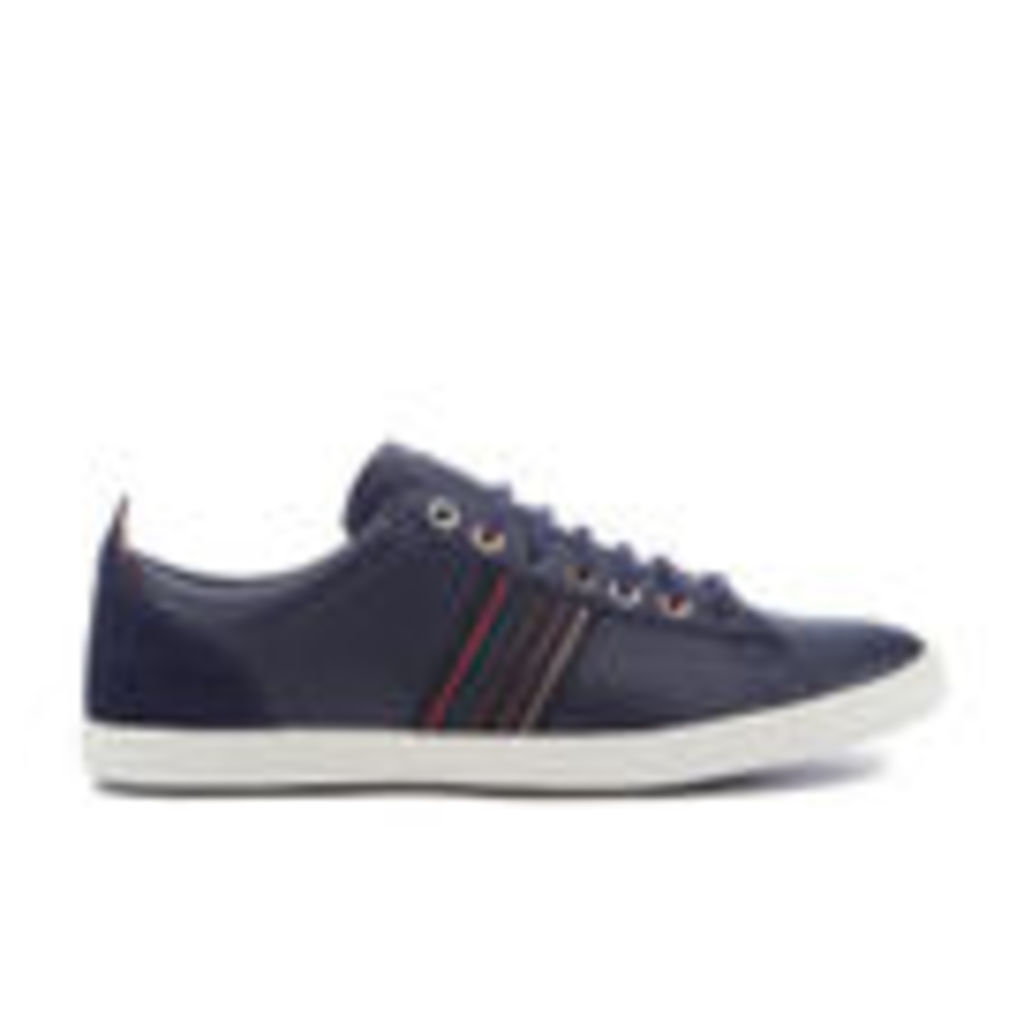 PS by Paul Smith Men's Osmo Leather Low Top Trainers - Galaxy Mono Lux - UK 8
