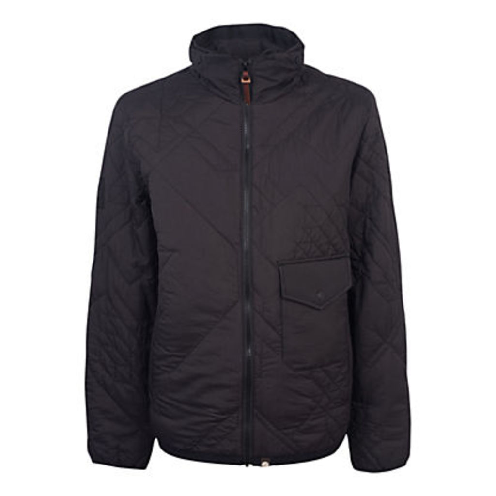 Pretty Green Kirby Quilted Jacket, Black
