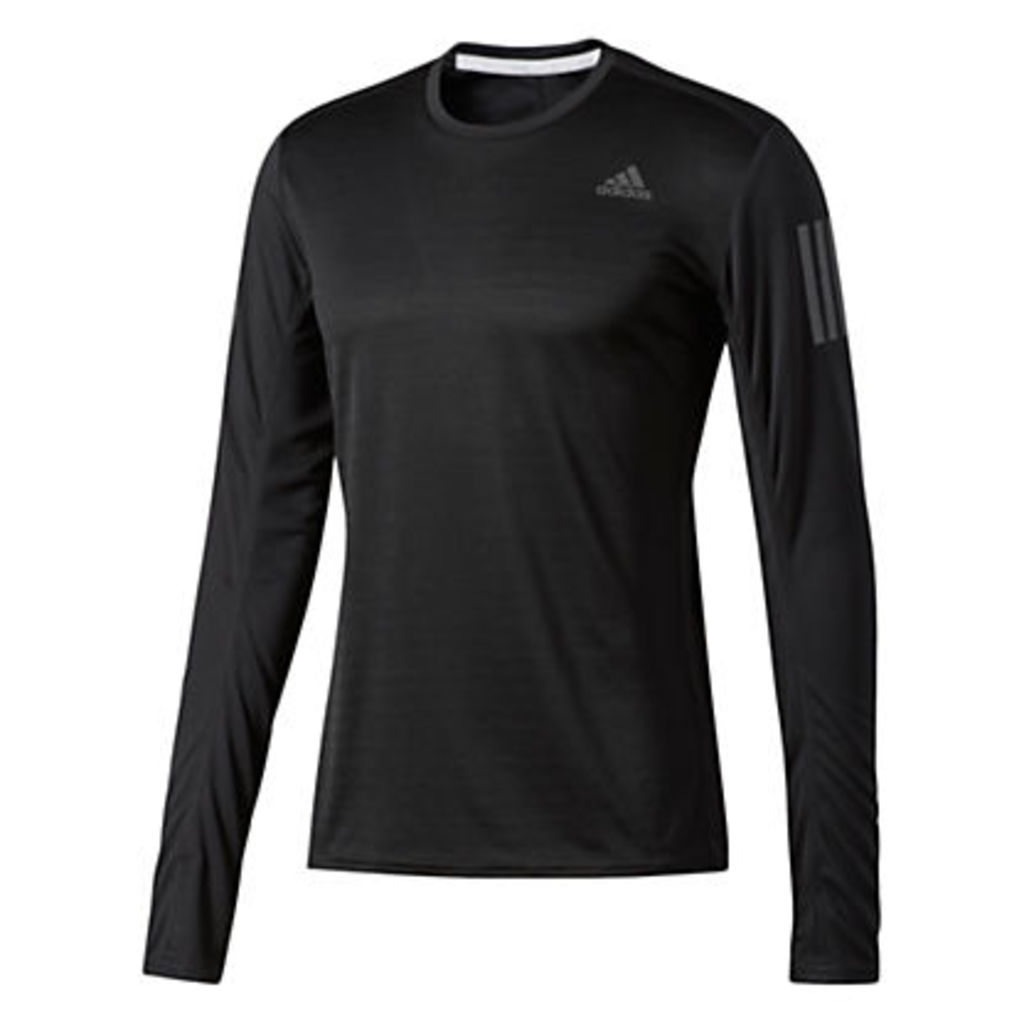 Adidas Response Long Sleeve Running T-Shirt, Black