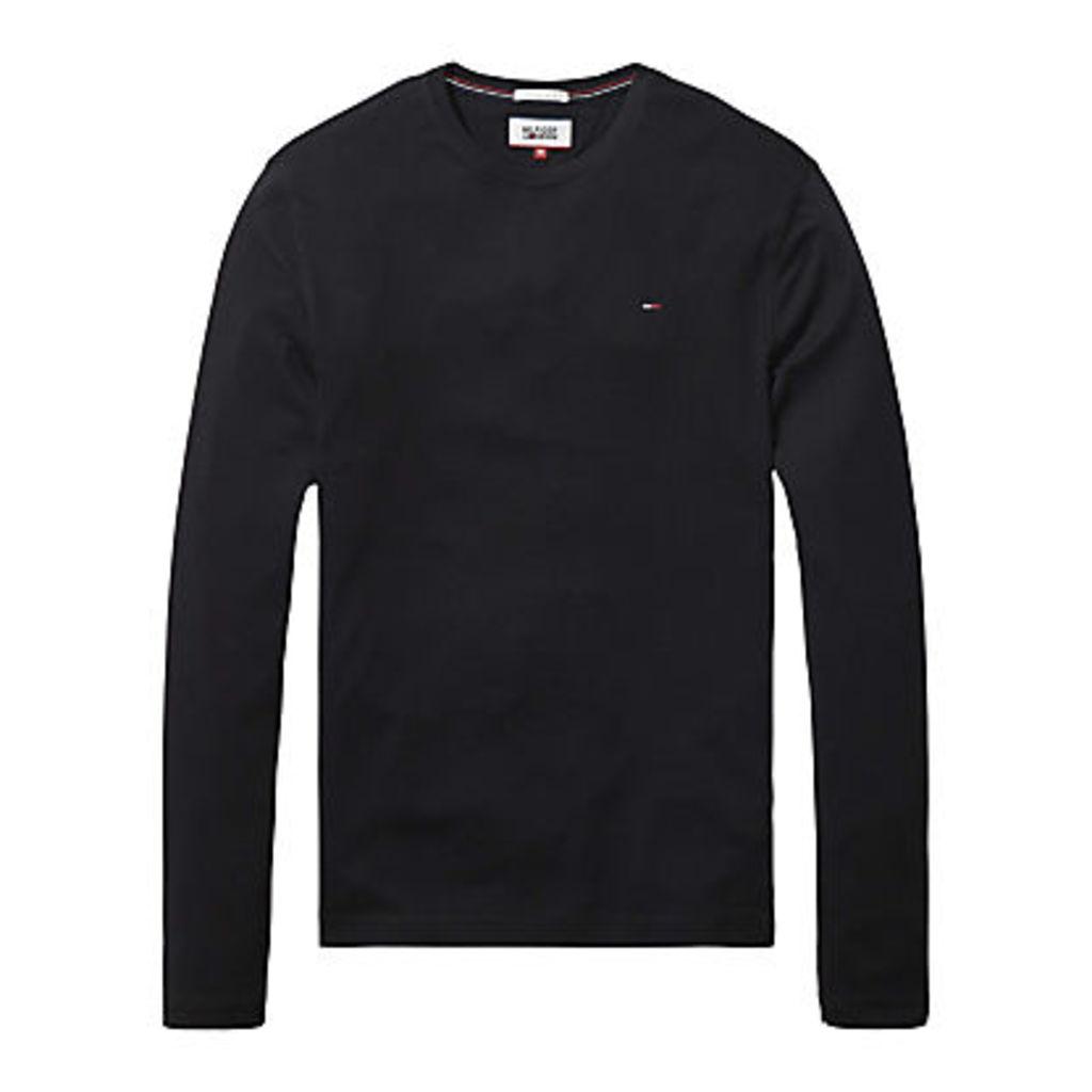 Hilfiger Denim Organic Cotton Long Sleeve T-Shirt, Tommy Black