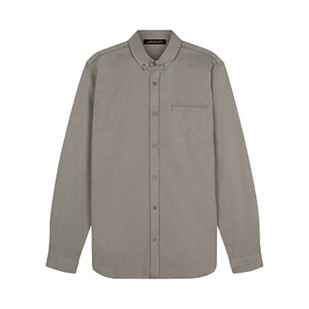 Jaeger Piping Detail Regular Fit Shirt, Green