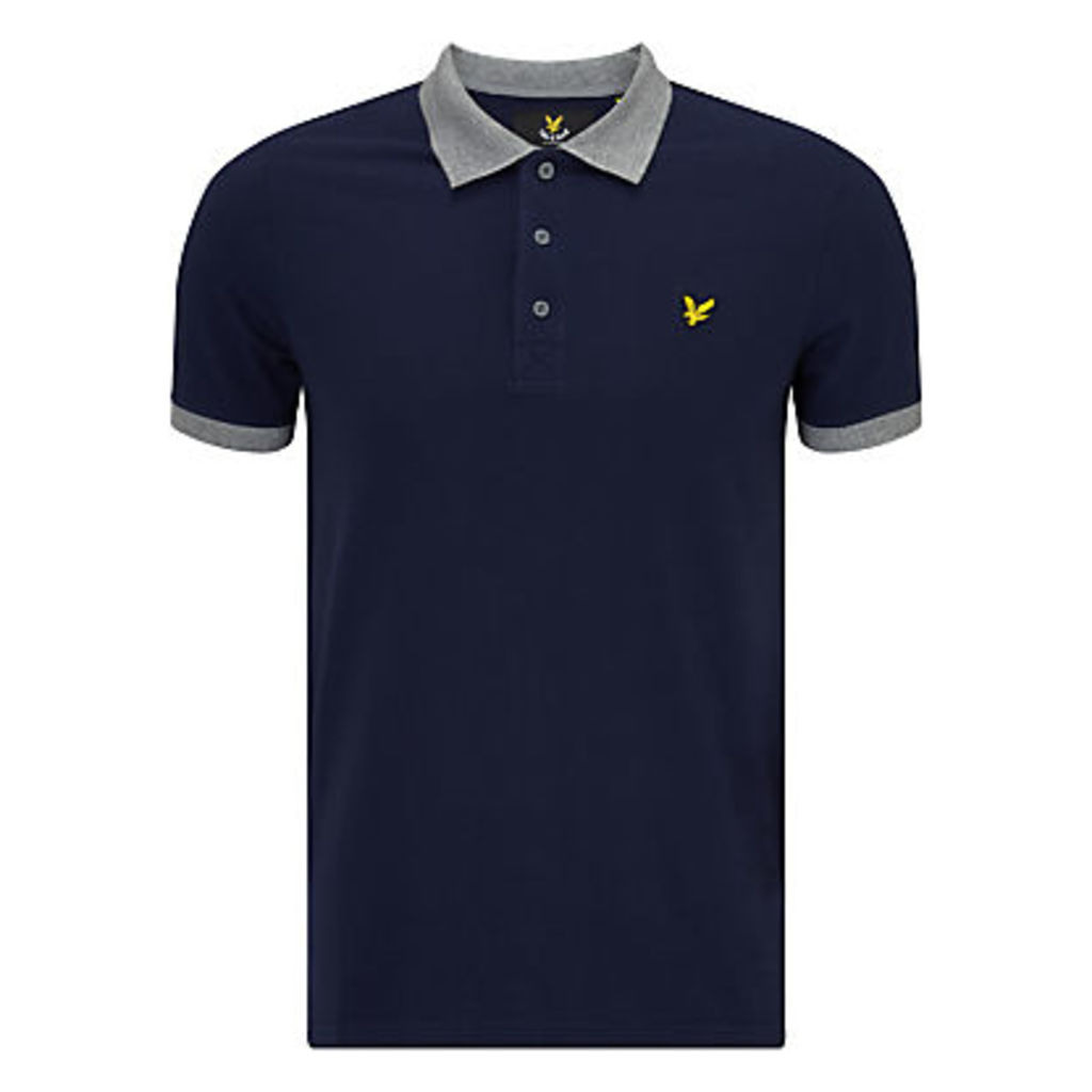 Lyle & Scott Contrast Rib Polo Shirt, Navy