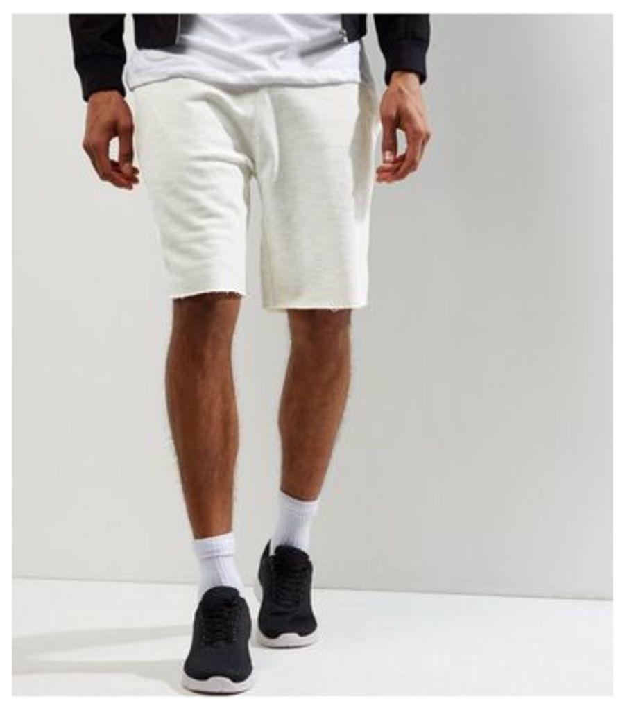 Cream Pique Shorts