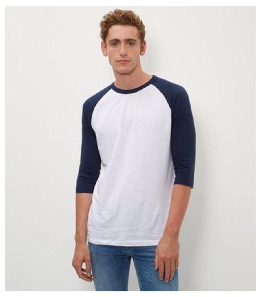 Navy 3/4 Raglan Sleeve T-Shirt