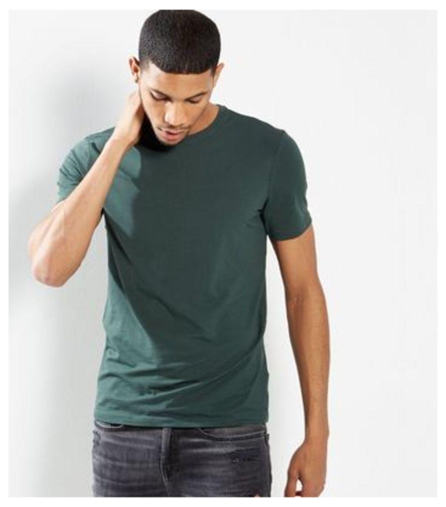 Dark Green Basic Short Sleeve T-Shirt