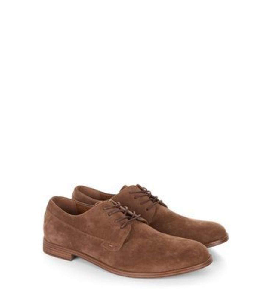 Brown Suedette Lace Up Brogues