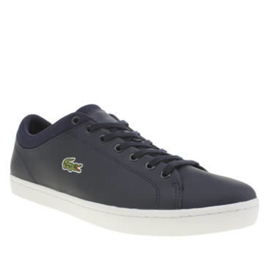 Lacoste Navy Straightset Mens Trainers