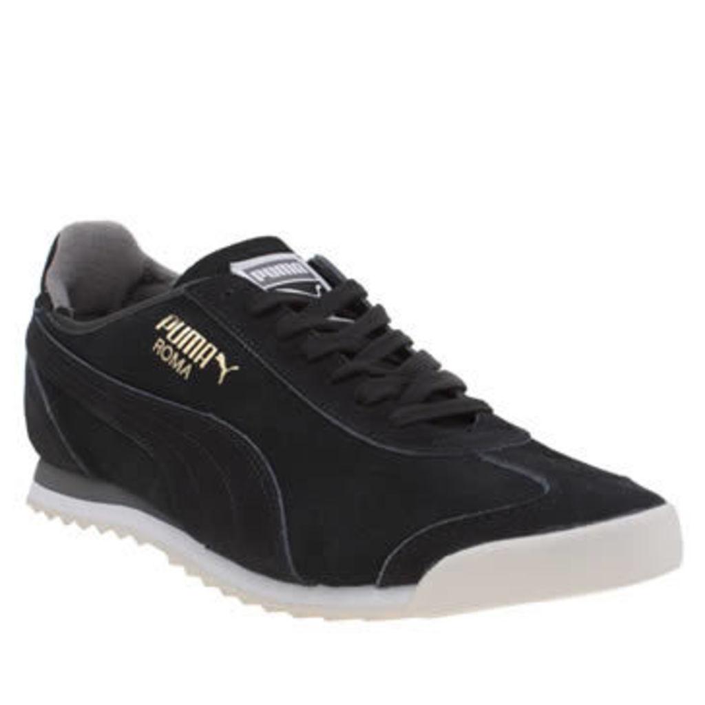 Puma Black & Grey Roma Og Mens Trainers